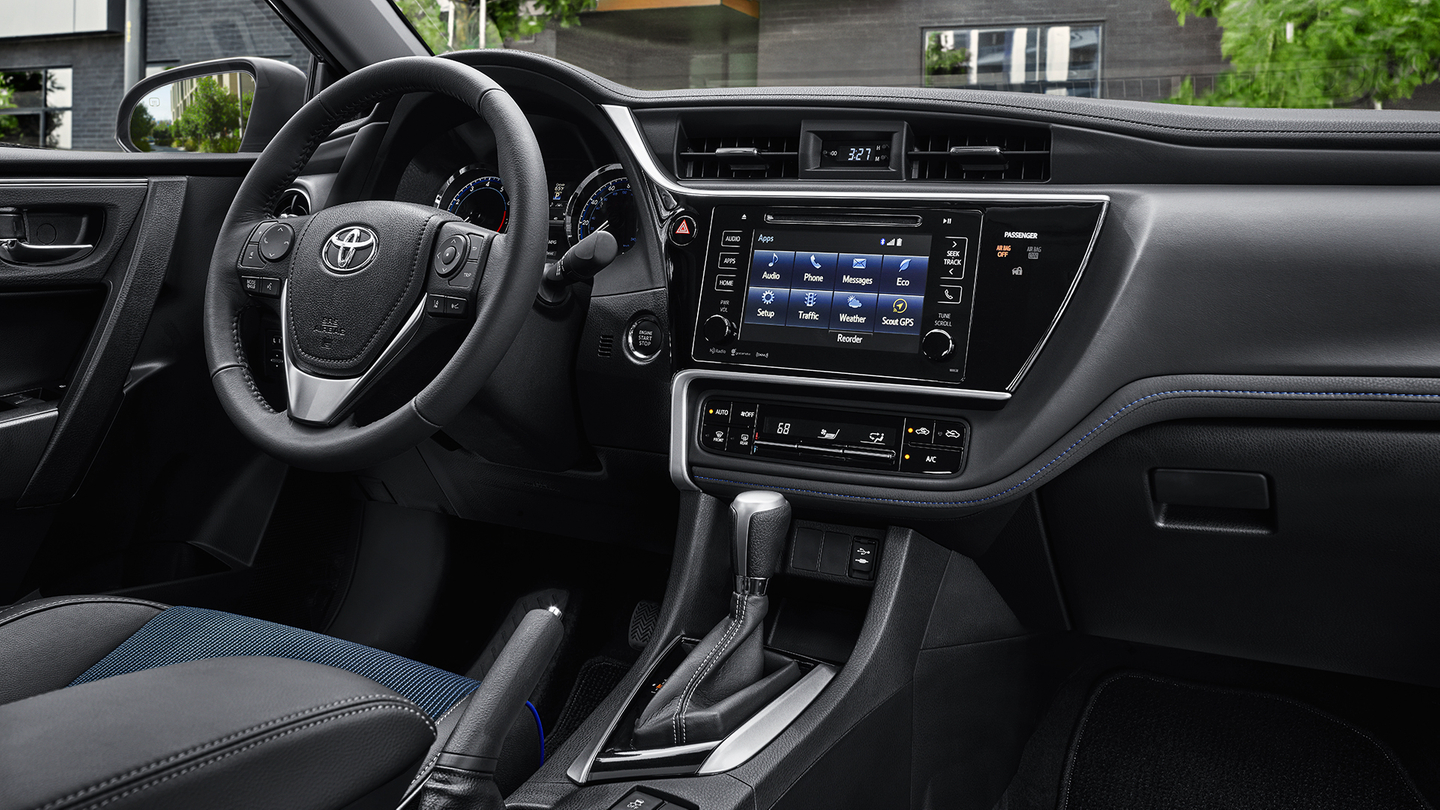 Interior of the 2017 Corolla
