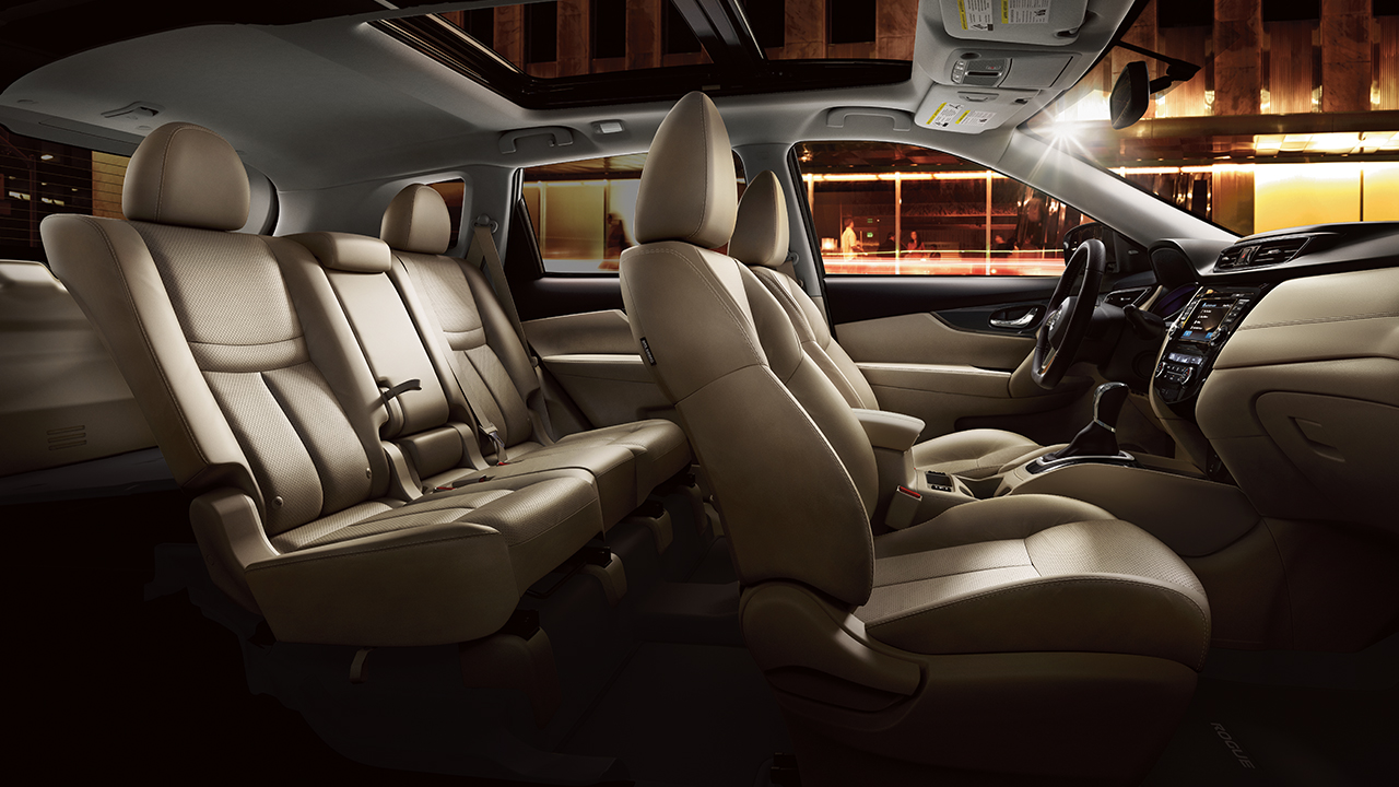 Nissan Rogue With Almond Leather Interior