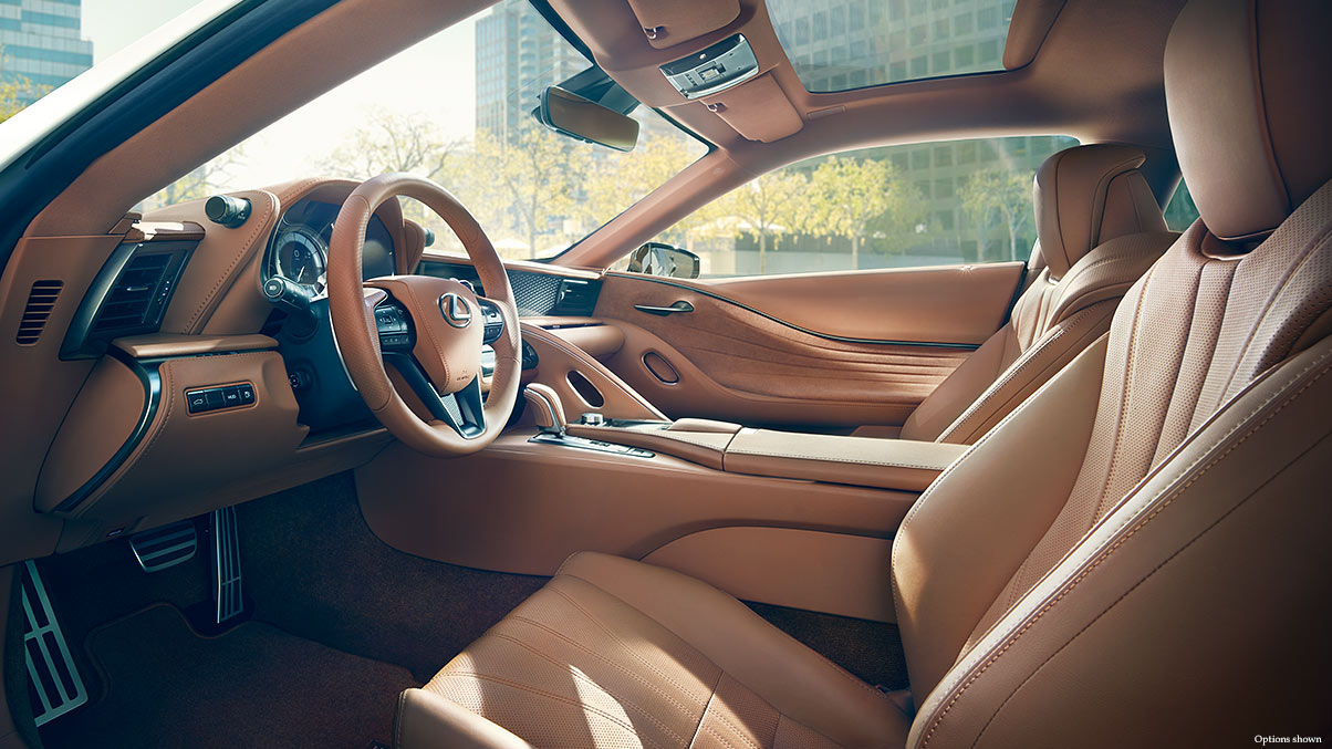 2018 LC 500 Interior in Toasted Caramel Leather