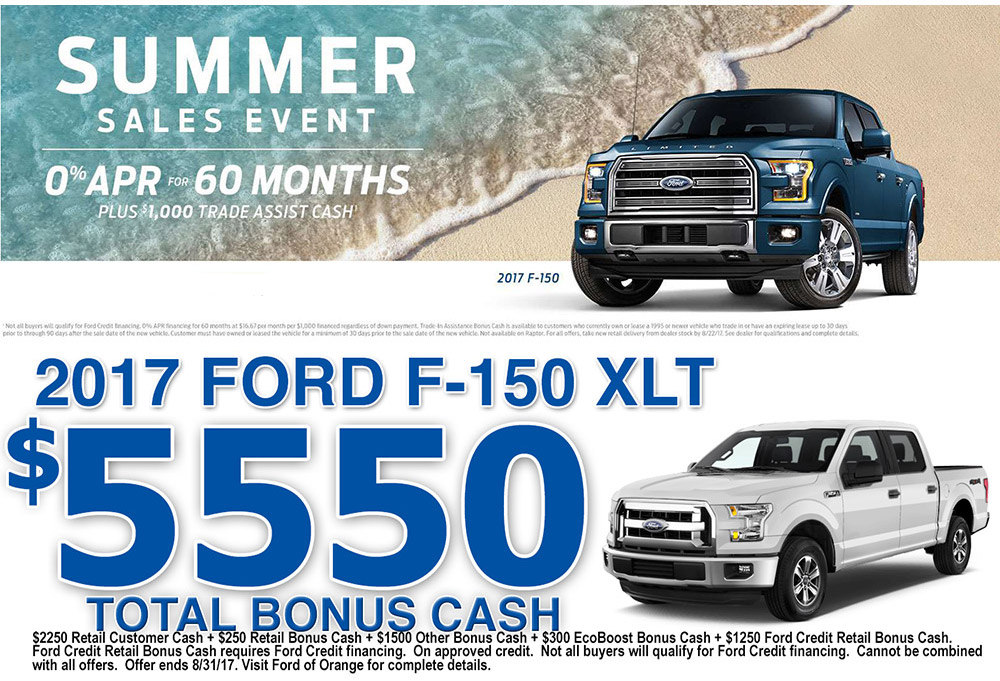 2017 Ford F-150 Special Offers Orange County Ford of Orange