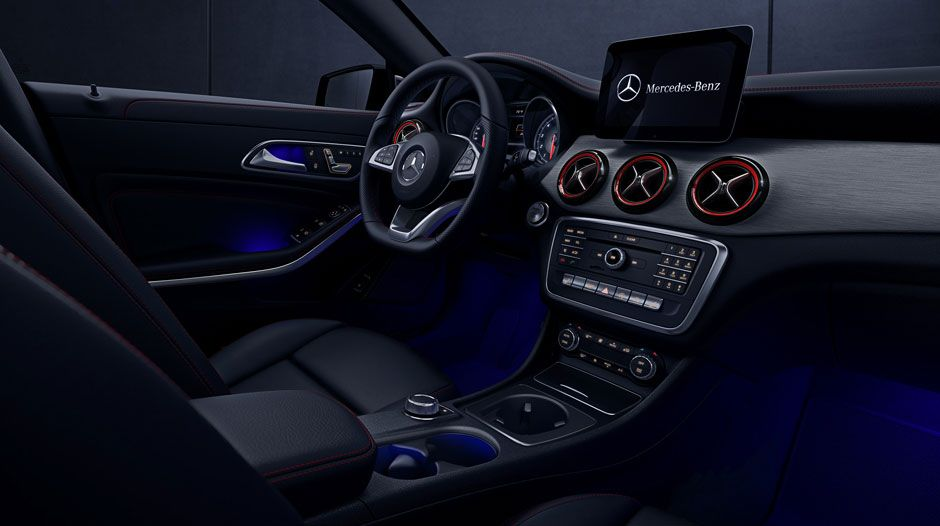 Interior of the 2018 CLA 250