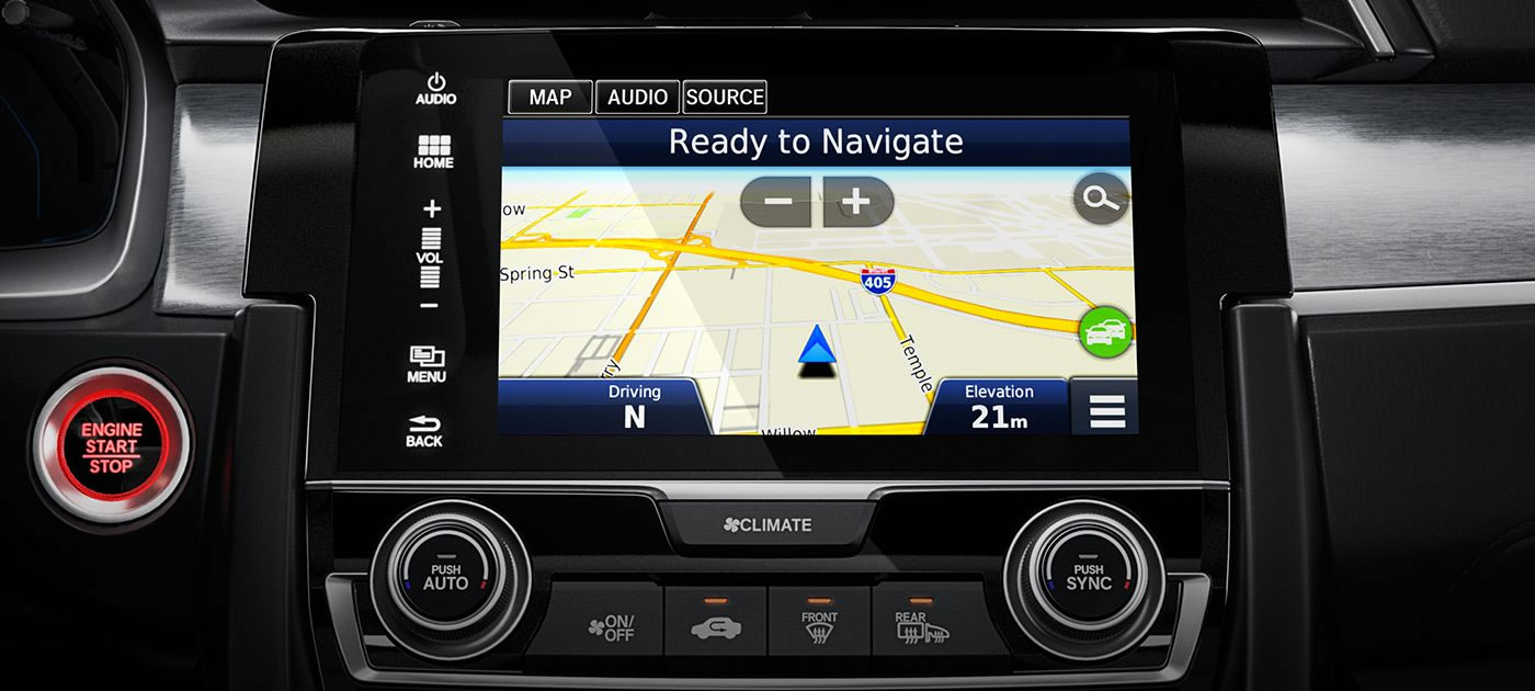 Honda Civic with the Honda Satellite-Linked Navigation System™