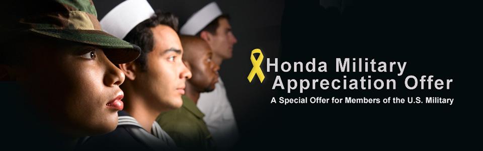 honda military appreciation offer - boch honda - boch honda