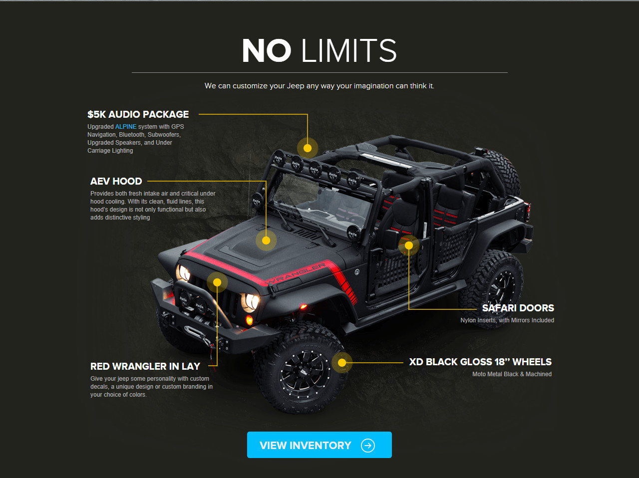 No limits alpine project jeep