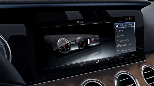 The 12.3-inch Central Display on the E-Class Sedan!