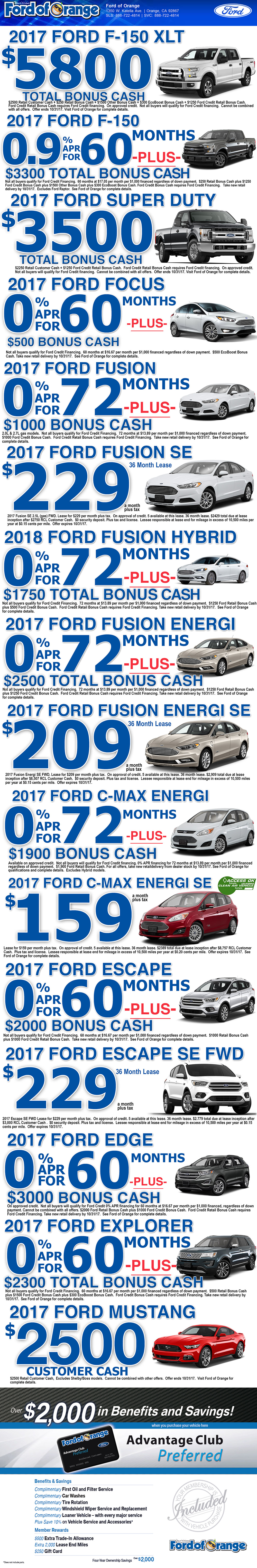 Ford of Orange Special Offers - Orange County Ford Special Offers