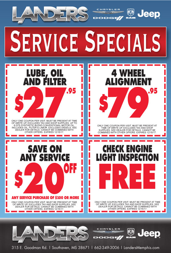 Dodge service coupons