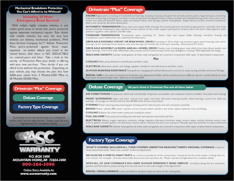 Asc Warranty The Car Connection