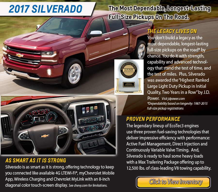 2017 Chevy Silverado Specials - Harbor Chevrolet