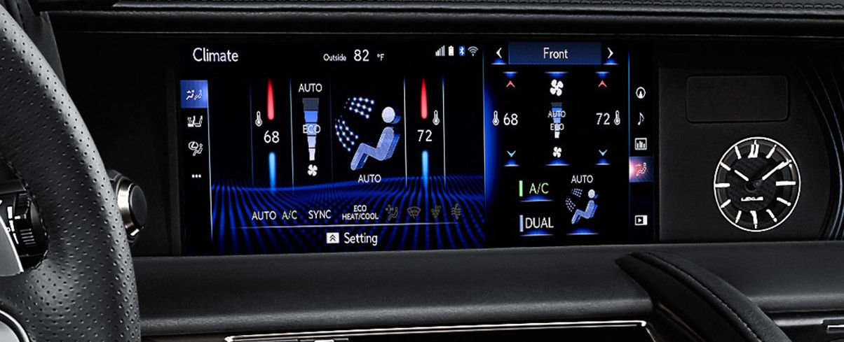 High-Resolution Split-Screen Multi-Information Display in the LC 500