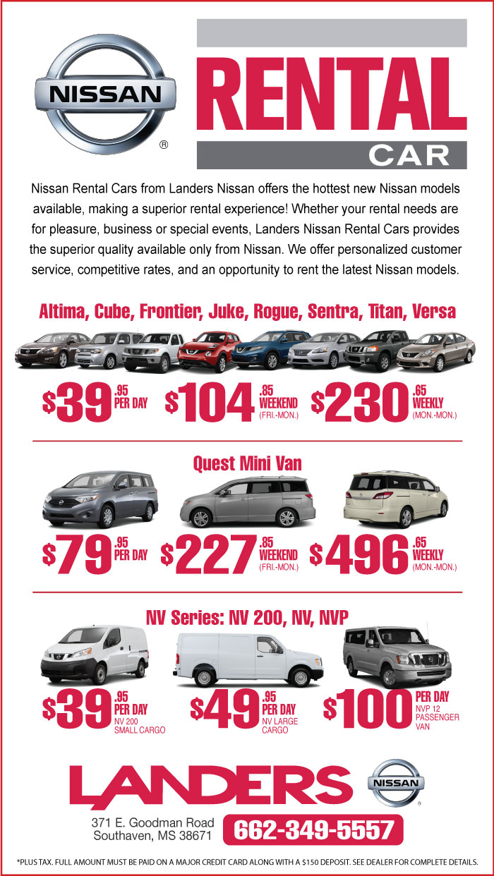 Nissan Dealership Memphis >> Nissan Rental Cars Landers Nissan