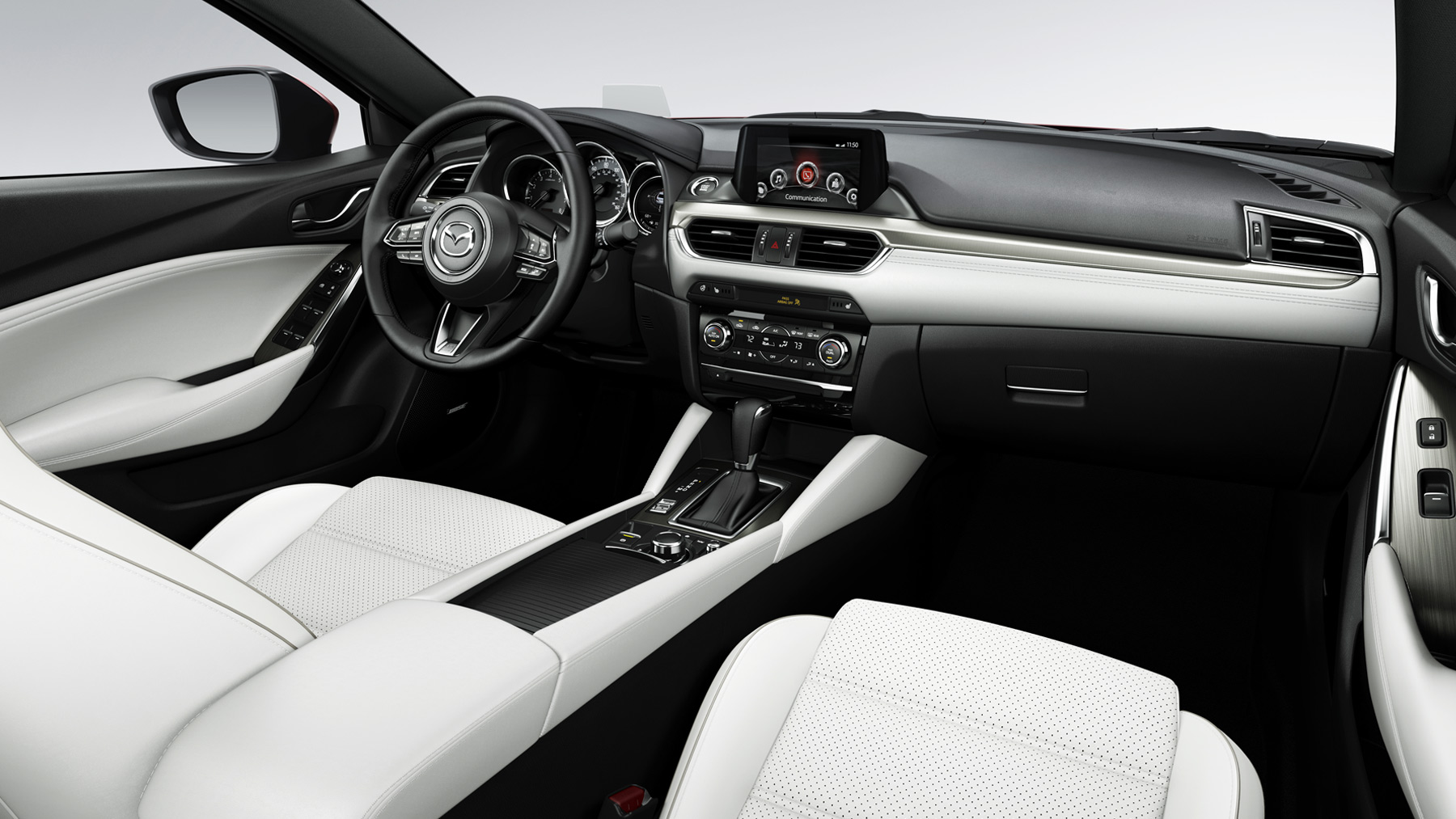 Modern amenities await you inside the cabin of the Mazda6