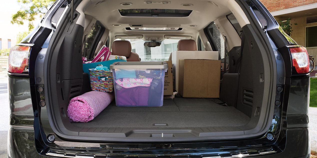 Total Cargo Space in the Traverse