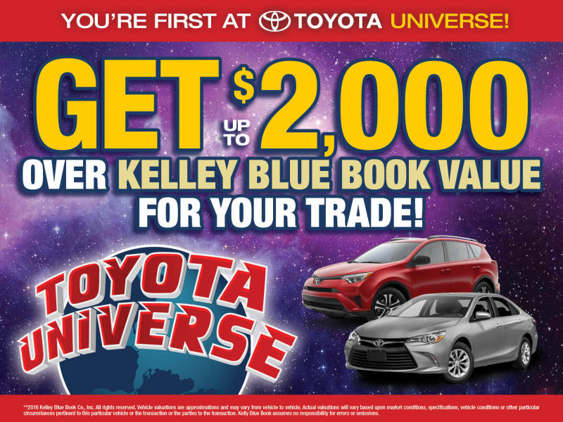 Kelley Blue Book 2000 for trade  Toyota Universe