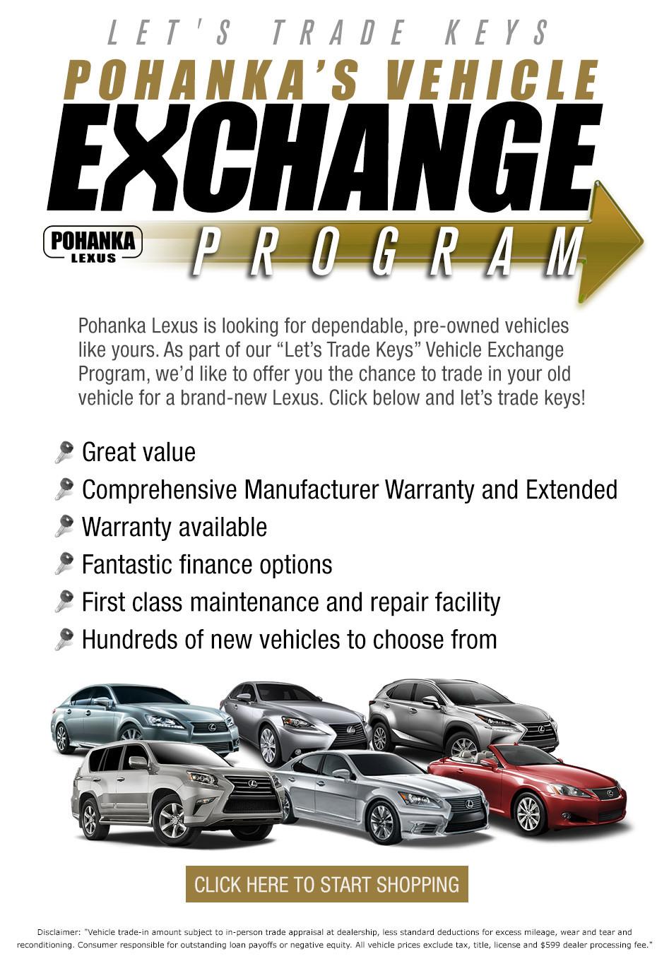 Pohanka Vehicle Exchange Program - Pohanka Lexus
