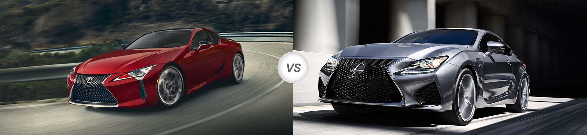 2018 Lexus Lc Vs 2017 Lexus Rc F Compare Specs Pohanka
