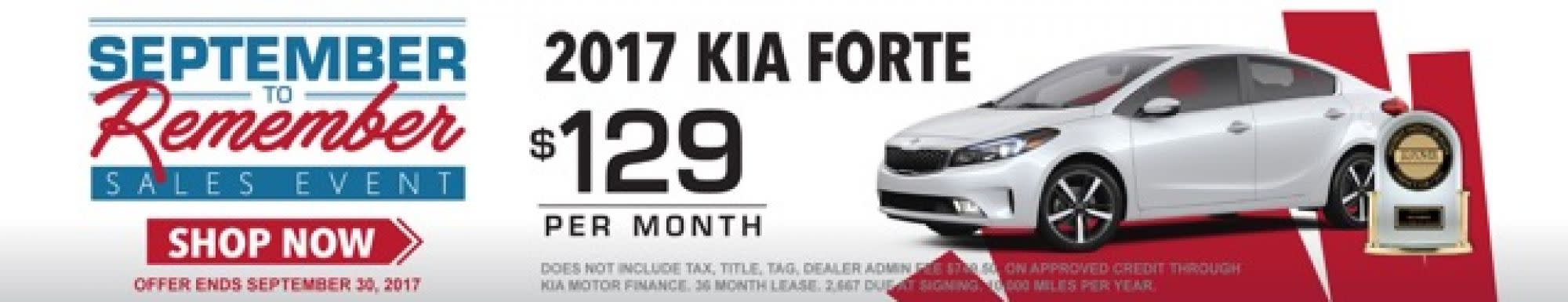 Union County Kia Forte Lease Offer