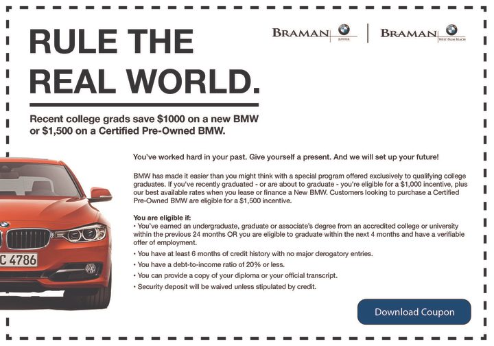 BMW COLLEGE GRADUATE PROGRAM - Braman BMW Jupiter