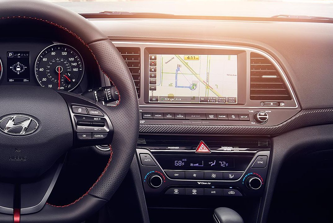 Navigation System in the 2017 Elantra