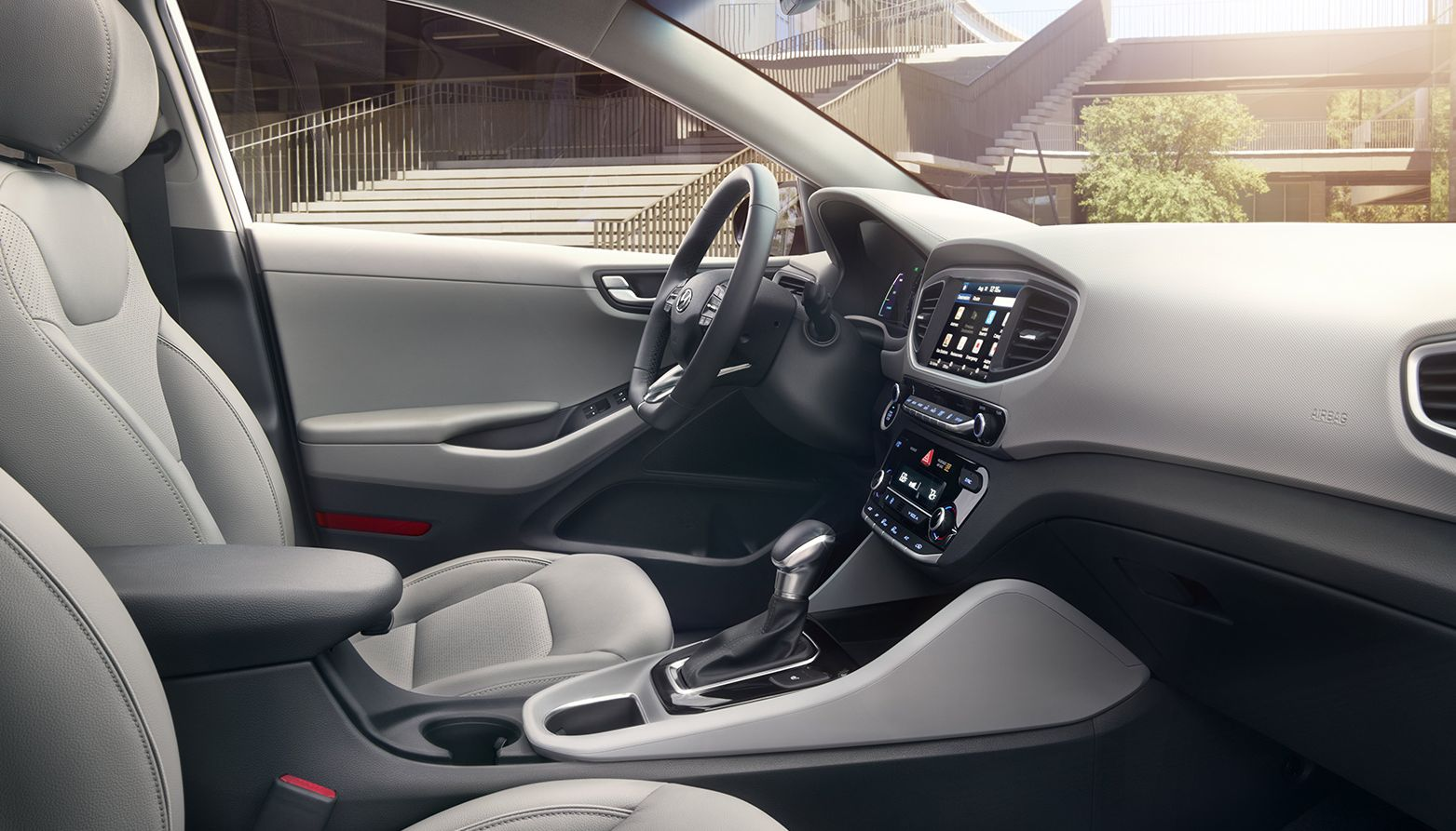 Finely-Furnished Interior of the Hyundai Ioniq Hybrid