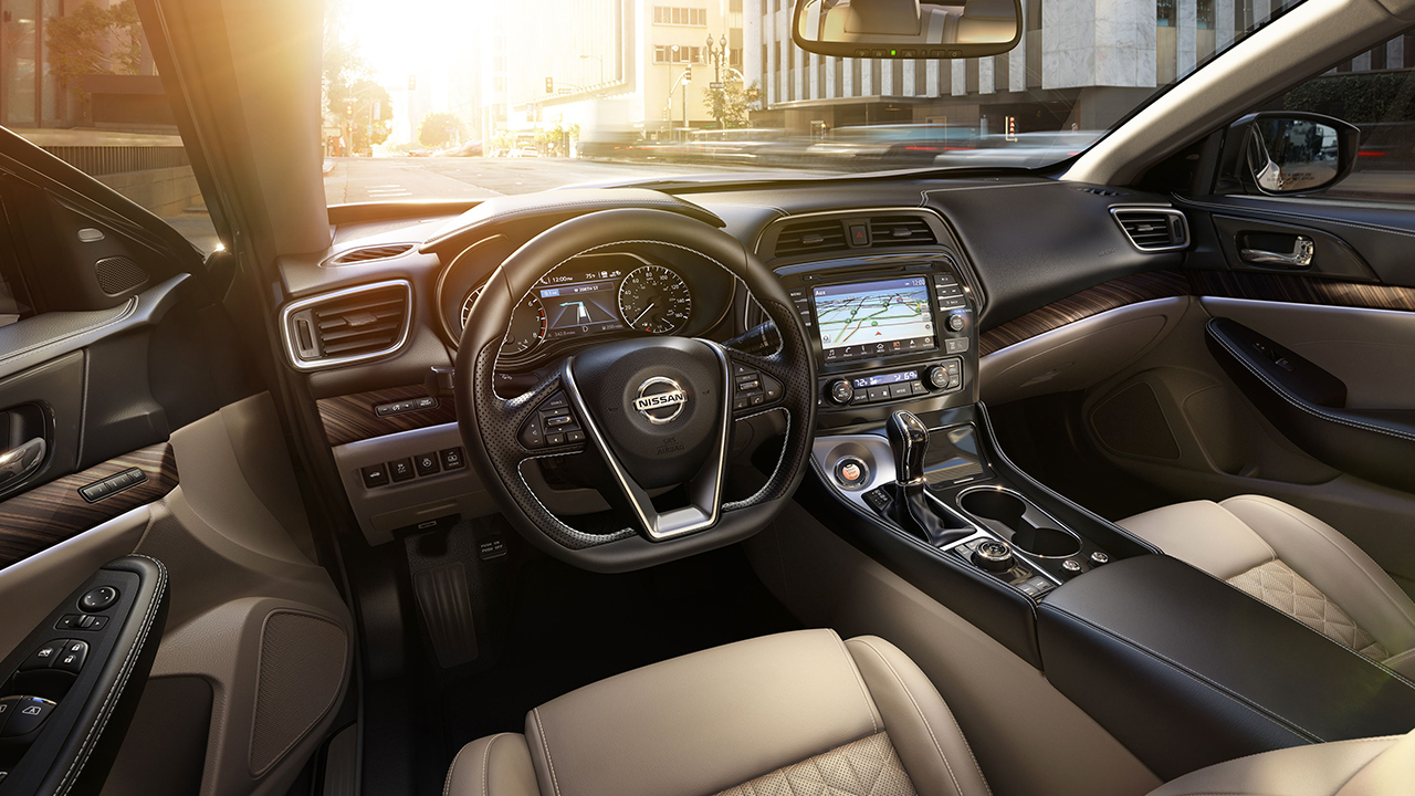Interior of the Nissan Maxima