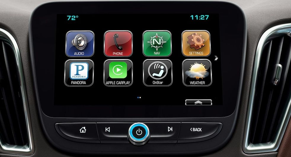 Multimedia Touchscreen in the Chevy Malibu