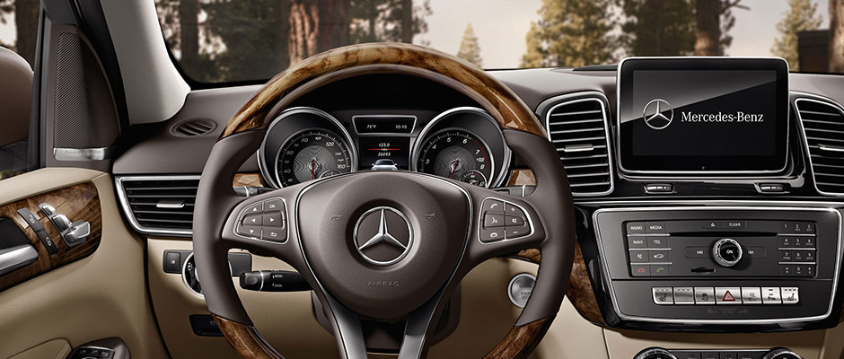 Interior of the 2018 GLE 350