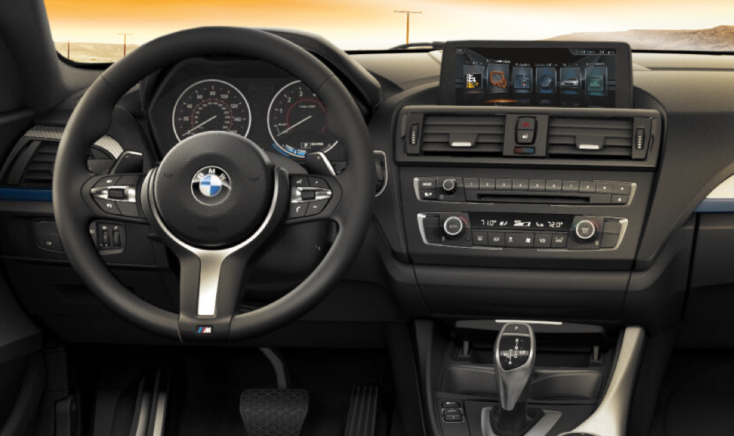 Interior of the 2017 BMW 2 Series