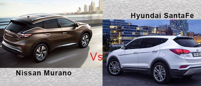Nissan Rogue Vs Hyundai Santa Fe >> 2016 Nissan Murano Vs 2016 Hyundai Santa Fe Landers