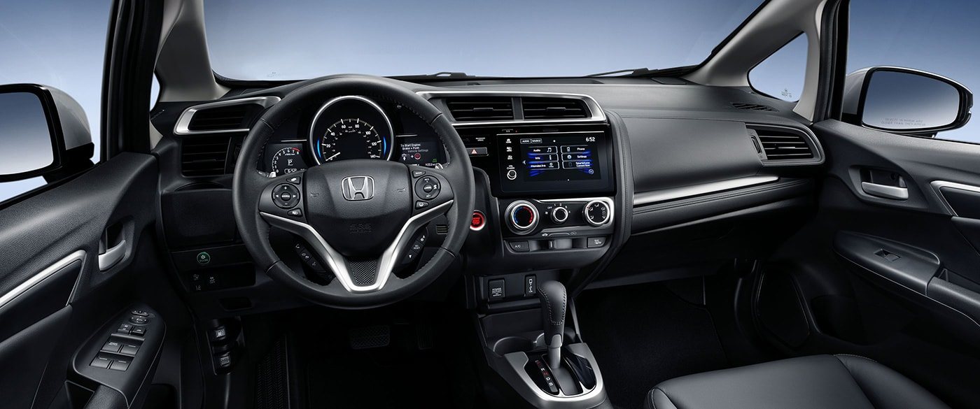 2018 Fit With Available Black Leather Interior