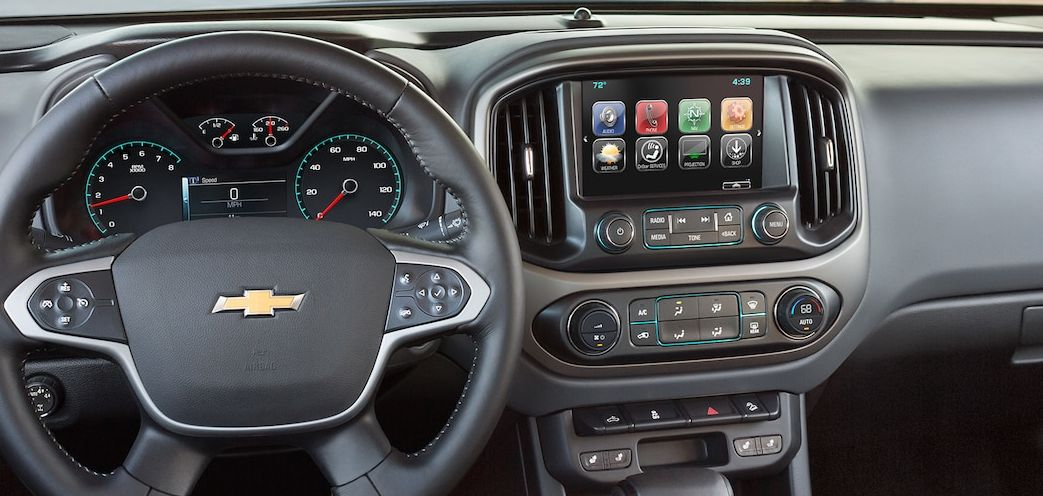 Touchscreen in the Center Stack of the 2017 Colorado