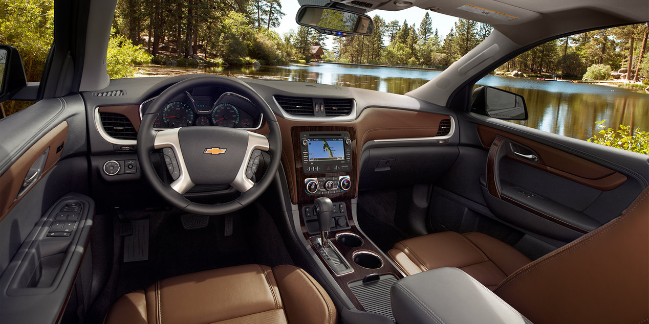 2017 Traverse Interior with Available Amenities