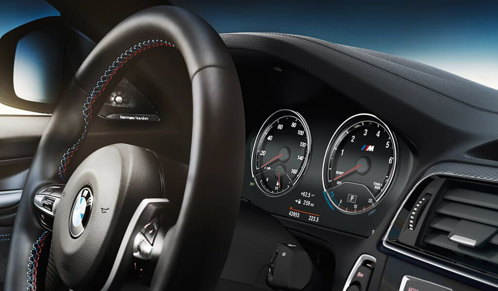 Leather-Wrapped Steering Wheel in the BMW M2