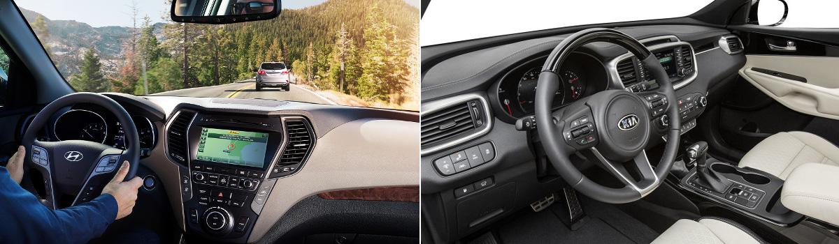 2018 Hyundai Santa Fe Sport Vs Kia Sorento Interior
