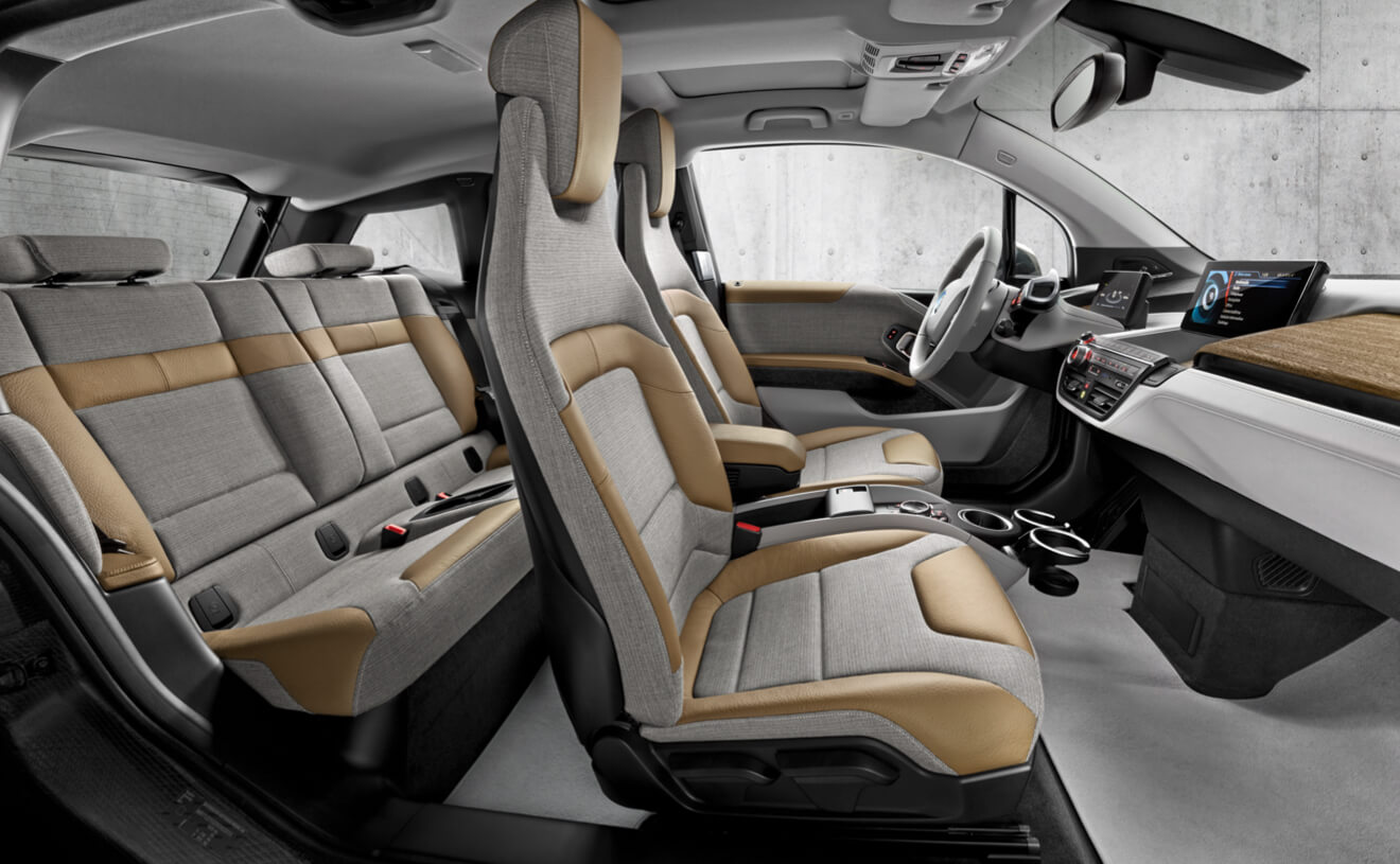 BMW i3 Giga World Interior Featuring Giga Cassia Natural Leather