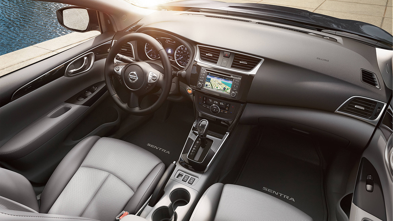 Name-Branded Interior of the Sentra