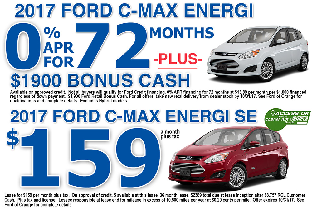 2017 Ford C-MAX Special Offers Orange County