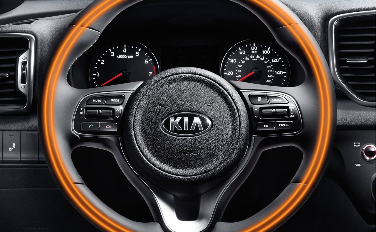 Steering Wheel-Mounted Controls in the Sportage