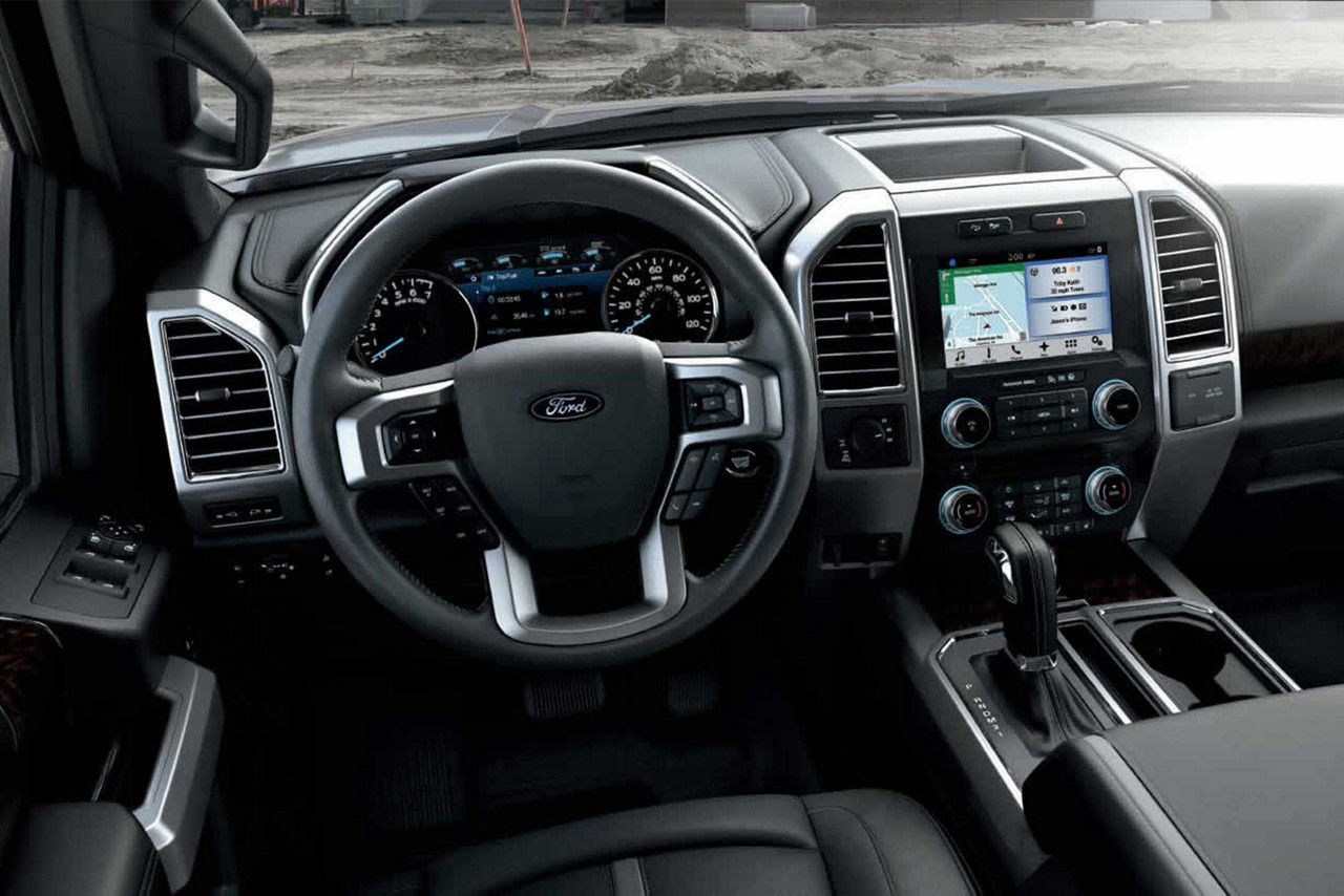 2018 f 150 interior with optional features