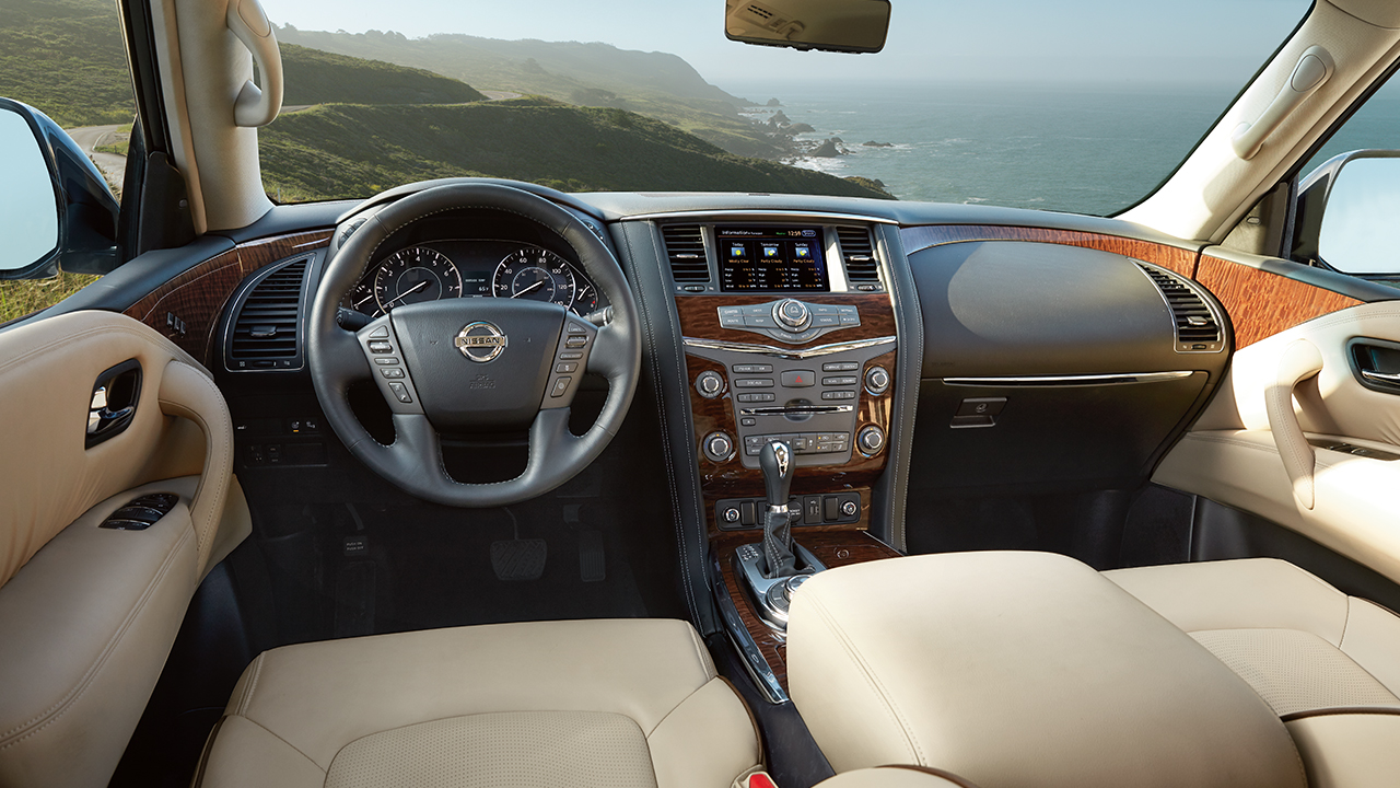 Cabin of the Nissan Armada