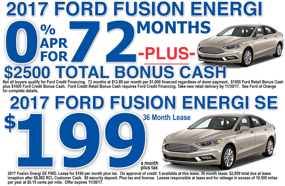 2017 Ford Fusion Energi Special Offers Orange County