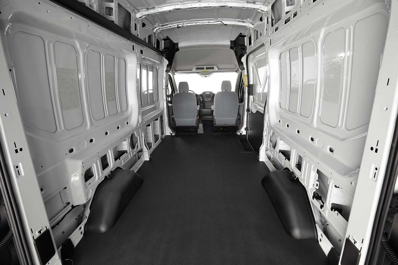 Interior of the Ford Transit Cargo