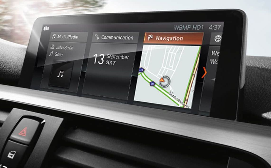 BMW Navigation System in the 2018 3 Series