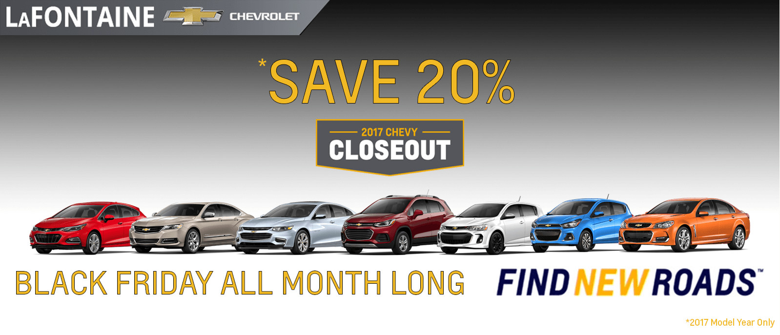 Save 20% On These Remaining 2017's - LaFontaine Chevy
