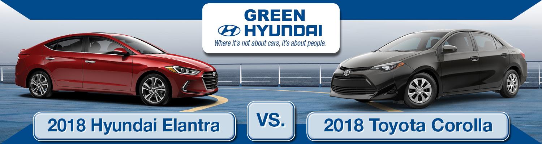 2018 Hyundai Elantra Versus 2018 Toyota Corolla