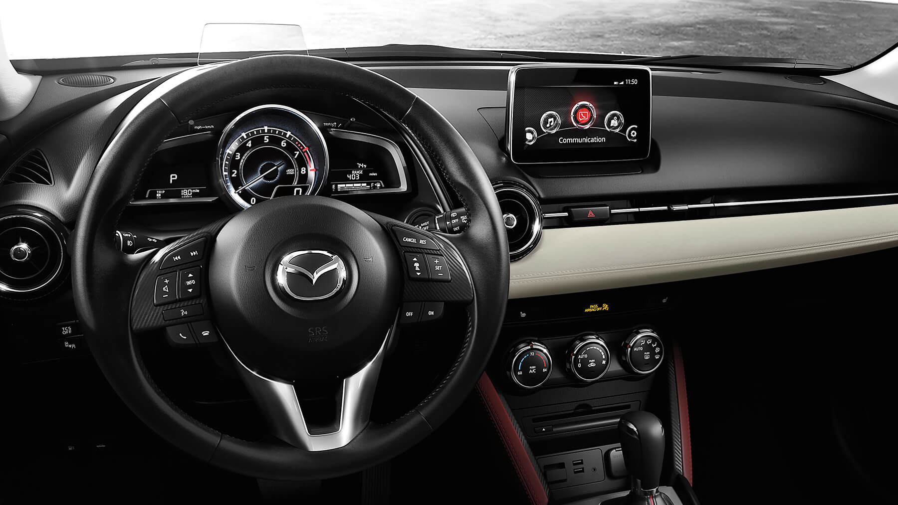 Interior of the 2017 Mazda CX-3