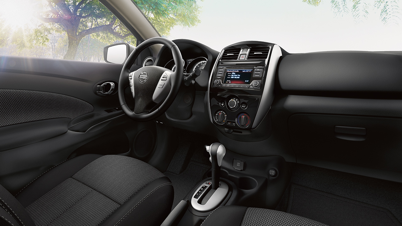 Interior of the 2018 Nissan Versa