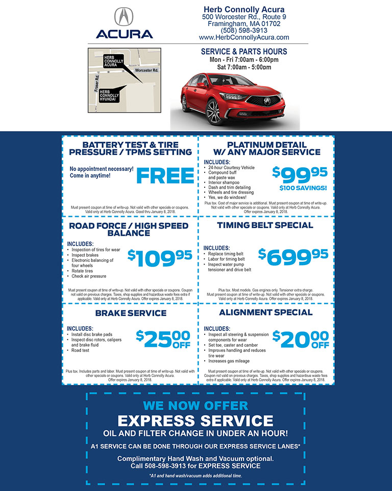 Printable coupons acura service