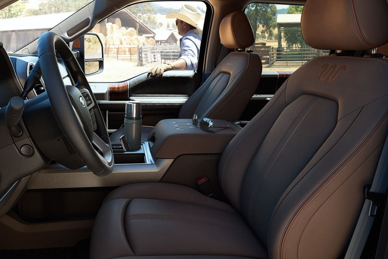 Ford Super Duty® King Ranch® interior with optional equipment.