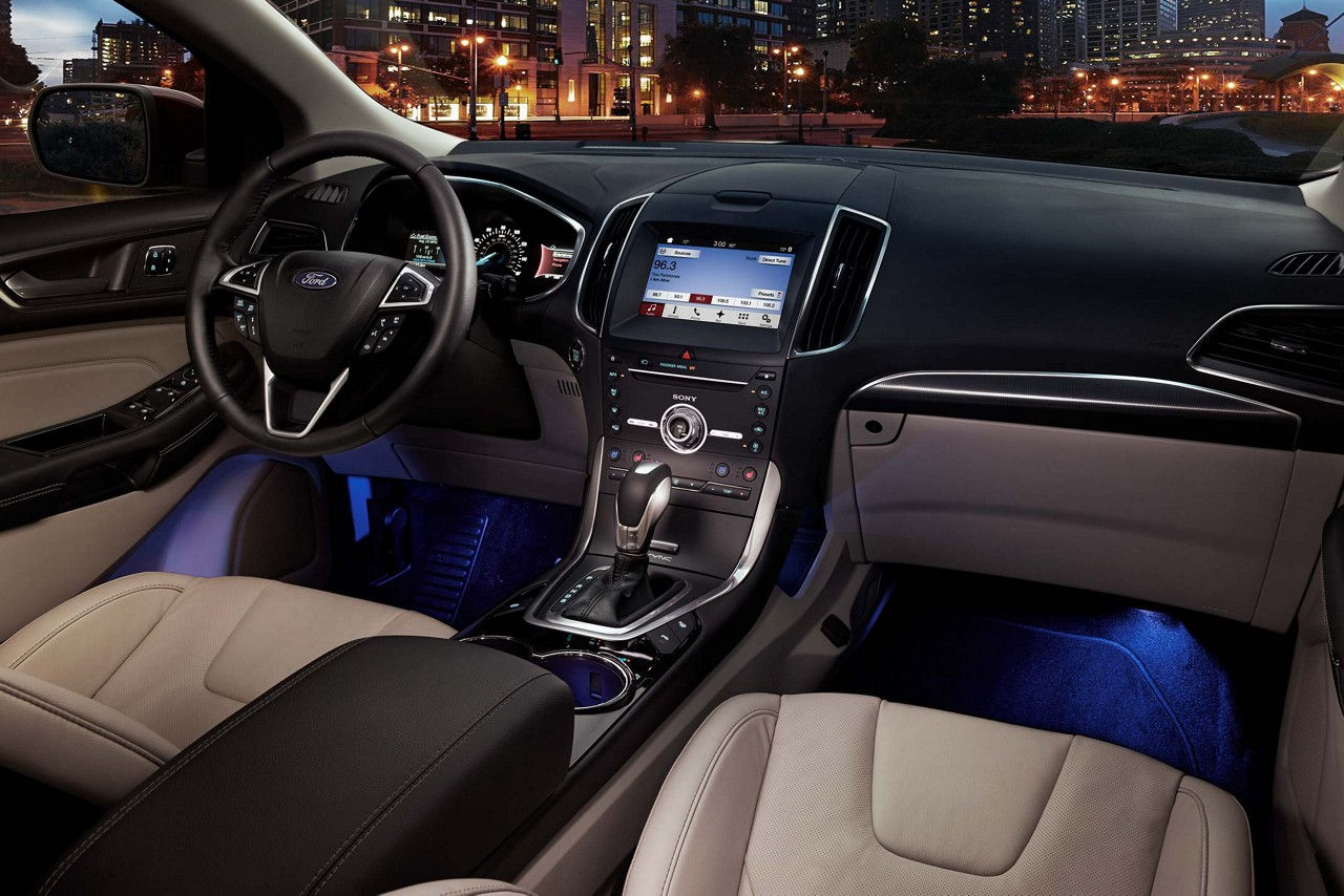 Ford Edge Interior With Optional Technology